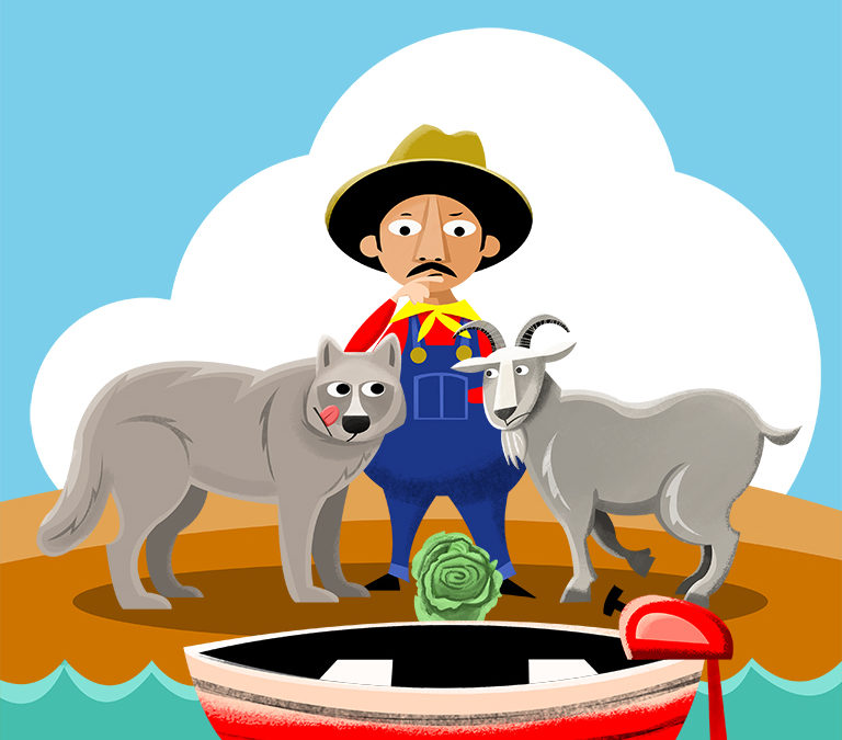 A Wolf, Goat, and a Cabbage Got into a Boat